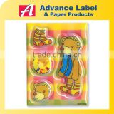 PVC cartoon 3d sponge puffy sticker