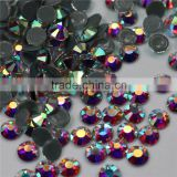 Factory Price Wholesale Crystal AB flatback hotfix rhinestones for sarees wedding dresses