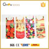 Fashion girls candy and fruit colorful 3D printed ankle socks