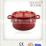 Hot sale Trionfo red enameled casserole pot antique cast iron pot non-stick cookware set