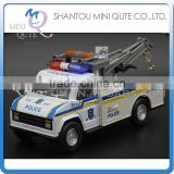 Mini Qute 1:28 kids Die Cast pull back alloy engineering police truck vehicle diecast model car educational toy NO.MQ 505A