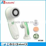 Waterproof Face Skin Cleansing Brush Machine Rechargeable Ultrasonic Electric Facial Brush For Exfoliating