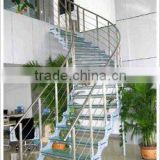 Decorative glass villa fence stair steps handrail and balcony railings