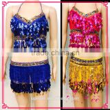 Shell Sequin belly dance costumes, belly dance Bra, belly dance belt