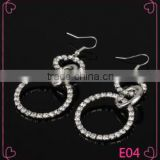 China factory hot selling tranditional designs woman accessories circle shaped charm earring