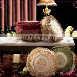 Noble short nap fabric sofa cushion and fringed embroidered decor sofa pillows
