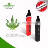 NEW arrive!!!2016 dry herb e cig with ceramic chamber atomizer dry herb e cig Airis Viva electric heating element