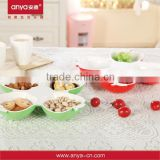 D521 The unique design 4 small apples plastic food tray plate melamine tray