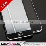 Beautifully packaged anti-scratch colored tempered glass for iphone 6 3D screen protector