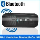 2013 Best Quality new support five lauguage change super mini handsfree bluetooth car kit v3.0