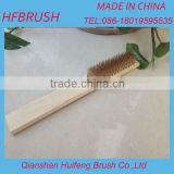 Copper wire wooden handle brush