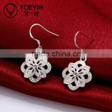 2015 latest new fashion jewellery 925 silver drop earring
