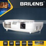 digital home led video hd projector short show/motorcycle hid projector headlight with angel eye
