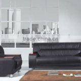 black heated modren cheap leather sofa SF-007