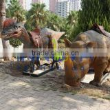 Dino Park equipment robotic life size dinosaurs ride
