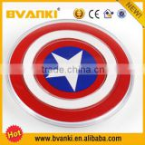 New products 2015 innovative product Captain America universal Qi wireless charger for for samsung s4 s5 s6 for i