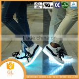 Private label shoes manufacturers fashion USB charging high quality flashing lights shoes