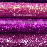 shiny artificial leather synthetic pu glitter leather fabric for making bags shoes