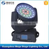 dmx rgbw hanging stage lighting equipment 36*10w 4in1 LED moving head zoom                                                                         Quality Choice