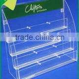 2016 acrylic stair commodity shelves clear acrylic tiers display shelf eyeglass display