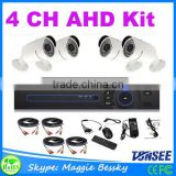 960P AHD Camera Kit with 4ch 1080P DVR bullet Camera kit for High Resolution Indoor cctv Surveillance system DVR kit