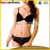 Low waist panty black sexy transparent lace ladies underwear bra new design