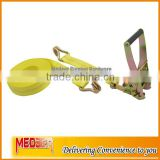 "High tenacity polyester quick release 2"" Car tie down/2inch cargo lashing strap double J used for cargo lashing"