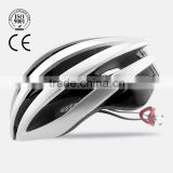 2015 fashion new EPS PC shell integrally molded CE inspection customized cycling helmet with LED light