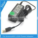 45W rohs laptop ac adapter 20V 2.25A usb charger for Lenovo ADLX45NLC3 36200246 Power Cord PSU