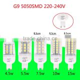 360 Degree G9 4.5W 5.5W 7.5W 10W 15W 5050 SMD LED Corn Bulbs Light Lamp Bulb Energy Saving Warm White & White 220-240V Blub