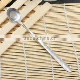 High Quality 7 Stainless Steel Long Handled Ice Tea Drink Soup Cream Chowder Spoon Flatware
