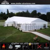 3000 people permanent building hard ABS solid wall party tent with high peak pagoda for event