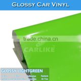 Size 1.52x30M Glossy Light Green Self Adhesive Car Wrap Vinyl Covering