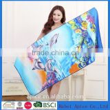 80%polyester with 20% polyamide thickness high quality printed terry towelling fabric