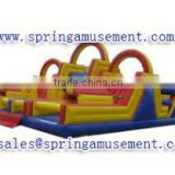 inflatable obstacle course inflatable barrier with double tunnel and single slide SP-OC015