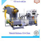 strip coil 3 in 1 automatic uncoiler or decoiler with leveler and feeder for hardware production line