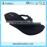 Absolute black comfortable women summer slippers