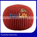 SZPLH Knitted blood orange pouf