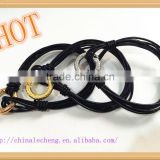 multi strands black genuine leather bracelets with different colors of copper closure for women