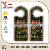 affordable price manufacturer retro hotel door numbers signs hanger bags