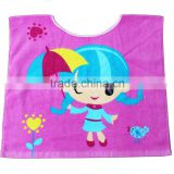High quality Lovely Cartoon Printed 100% cotton Eco-friendly Baby Beach Swim Skirt Baby Bathrobe For Children