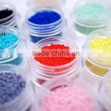 1.5mm 2mm 3mm 3.5mm candy pastel color nail arts Colorful Bead Stone ball neon diy