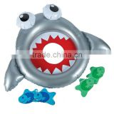 lovely shark inflatable bean bag ring toss game for party