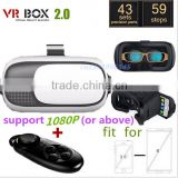 Google Cardboard V2 VR BOX 2 II Smartphone Headset 3D Virtual Reality Glasses Helmet Oculus Rift DK2 Goggles + Controller cheap