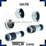 5 in 1 Lens Kit fisheye wide angle 2X /9X /12X telephoto Camera Lens for iphone extra parts camera lens optical lens