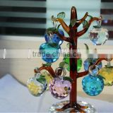 Wholesale Crystal Tree With Apple For Christmas Ornaments