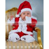 2015 trade assurance Santa claus style baby christmas costume with hat