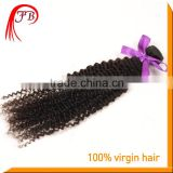 Chinese human virgin hair weft kinky baby curl hair weave