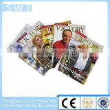 professional customized printing perfect binding offset fashion sport magazine