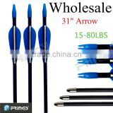 "Wholesale 31"" Durable Fiberglass arrow for archery 600pcs/lot free shipping for Fedex"
